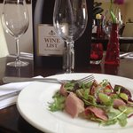 Smoked duck, fig & walnut salad, aged balsamic