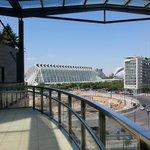 panorama dal cortile interno sopra centro commerciale