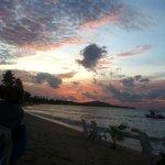 sunset on the beach at zenzibar