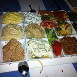 meze plate for 4 person! Delicious!