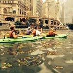 Chicago River with Urban Kayak tour