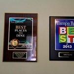 Award winning restaurant!