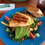 Salmon salad. Yummi.