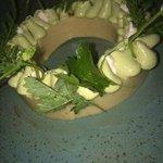 Green Strawberry - shortbread, sorrel curd, oak moss, sweet clover