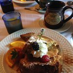 Delicious stuffed french toast!
