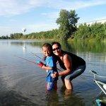 my son & I fishing.