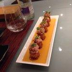 Sushi frit au tartare de thon