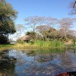 Lagoon at Entry to Lodge