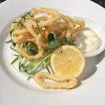 Gorgeous squid starter!