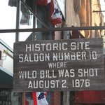 Famous saloon across from the hotel