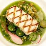 East Coast Halibut, Melange of Cucumbers and Dill Broth