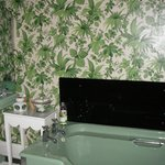 The floral bathroom