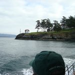 Approaching light house on one of the many San Juan Islands