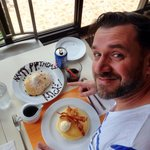 Birthday breakfast in Pancake House