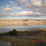 View of lake Titicaca from hotel