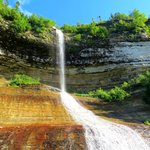 Unnamed falls at Pictured Rocks