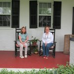 relaxing on the porch with my dear friend, Linda.