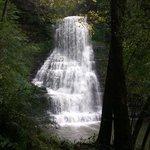 Beautiful waterfalls  just a hike away.