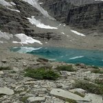 Glacial lake in front of Lodge