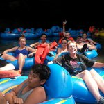 Cave tubing (Belize) with our group
