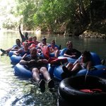 Cave tubing group (Belize)