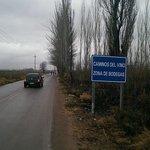 Caminos Del Vino sign