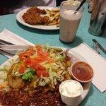 Tahlequah Taco and Chocolate Milkshake and Chicken Fried Steak...yummmm
