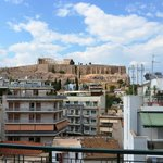 View from the 7th floor room of the Acropolis