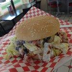 Chicken Ceasar Salad Burger. $8.99