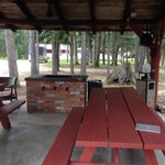 Picnic shelter for movies and cookouts