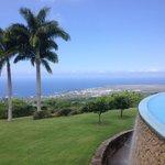 Fantastic view of Kona over the Infiniti pool.