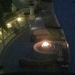 fire pit outside lobby ar