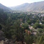 View from halfway up the hike to Linwood Cemetery