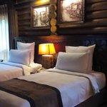 Pavilion villa/upper deck/2 single bed