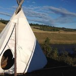 Beautiful tipi scenery