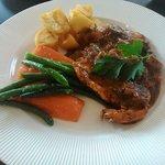Chicken and tomato tarragon sauce