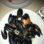 These mussels were delicious! In a light wine, tomato and garlic broth, it was a lovely balance