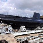 "You ca visit the submarine ""Flore"""