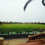 Vision campo de Golf desde zona Bar.