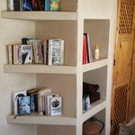 Mini-library on rooftop terrace