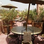 Seating on rooftop terrace