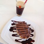 Cold espresso e waffle alla Nutella. Meraviglia!