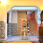 Le salon à l'entrée du Riad