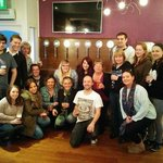 Staff at launch of Wales' First Self Serve Beer Wall