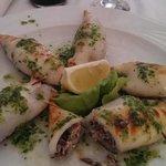 Gefüllte Tintenfische vom Grill