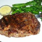 Kona Rubbed Rib-Eye Steak 13 oz USDA Choice Rib-Eye served with Porcini mushroom ravioli + wood-