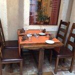 in the restaurant
