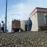 Tram and Summit Cafe, Snaefell