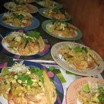 Special ordered dinner...traditional Pad-Thai...without finished sauce and with traditional vegg