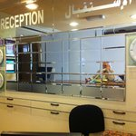The reception area...